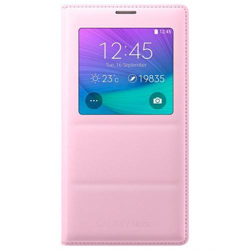 Чехол-книжка S View Cover для Samsung Note 4 розовый