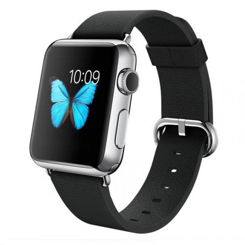 Умные часы Apple Watch mj312 38mm stainless steel case with black classic buckle