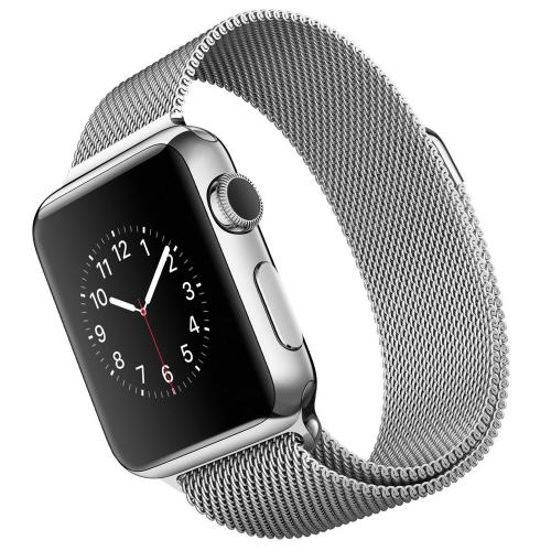 Умные часы Apple Watch MJ322 Stainless Steel Case 38mm with Milanese Loop