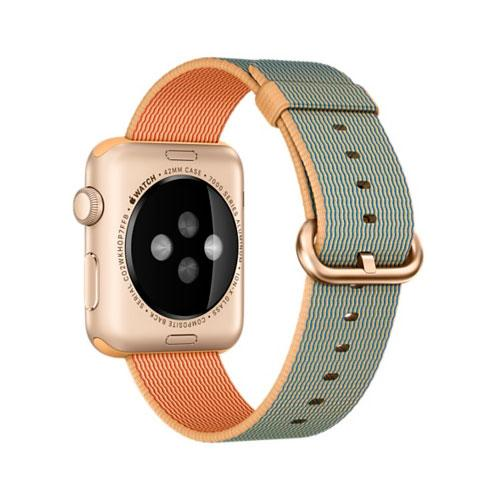 Умные часы Apple Watch Sport MMFQ2 42mm Gold Aluminum Case with Gold/Royal Blue Woven Nylon