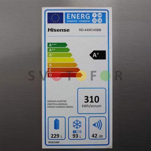 Холодильник Hisense RD-44WC4SBB/CLA1 BCD-326D (дисп.)