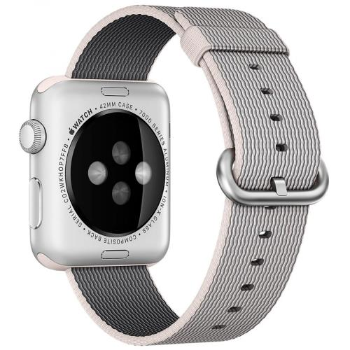 Умные часы Apple Watch MMG02 42mm Stainless Steel Case with Pearl Woven Nylon