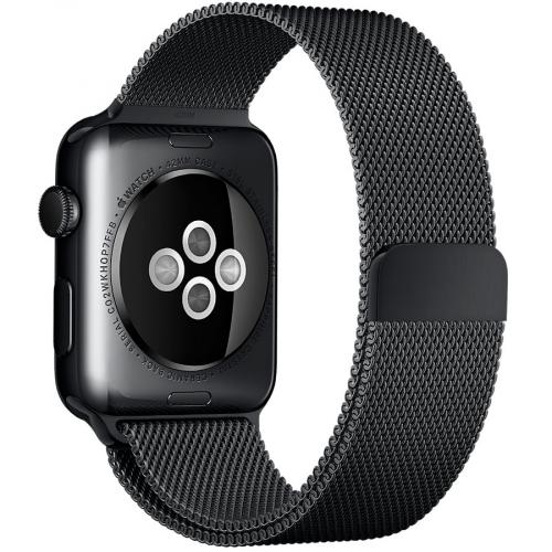 Умные часы Apple Watch MMG22 42mm Space Black Stainless Steel Case with Space Black Milanese Loop