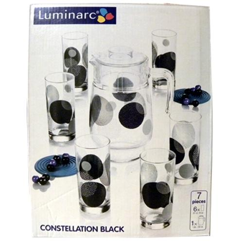 Графин со стаканами Luminarc Constellation Black