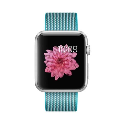Умные часы Apple MMFN2 42mm Silver Aluminum Case with Scuba Blue Woven Nylon