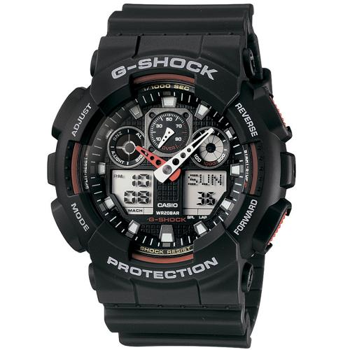 Мужские японские наручные часы Casio G-Shock GA-100-1A4