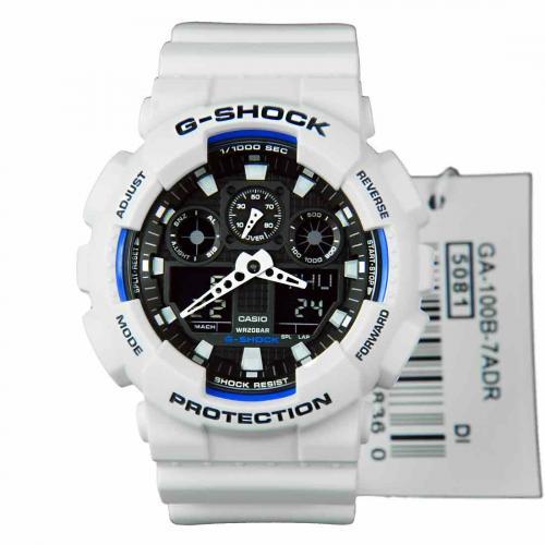 Унисекс японские наручные часы Casio G-Shock GA-100B-7A с хронографом