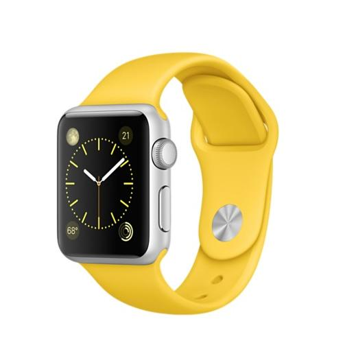 Умные часы Apple Watch MMF02 38mm Silver Aluminum Case with Yellow Sport Band