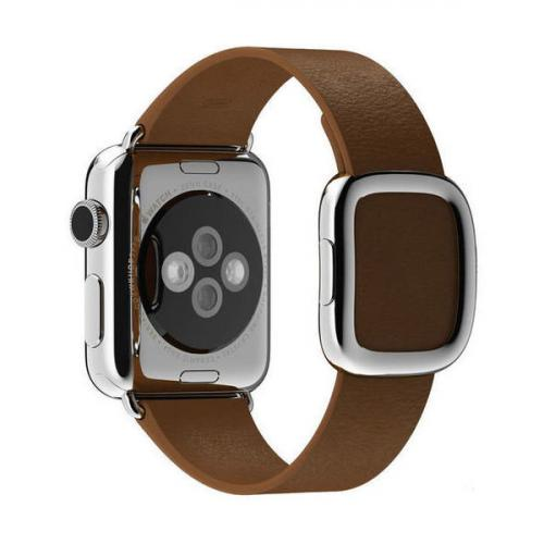 Умные часы Apple Watch MJ3A2 38mm Stainless Steel Case with Brown Modern Buckle