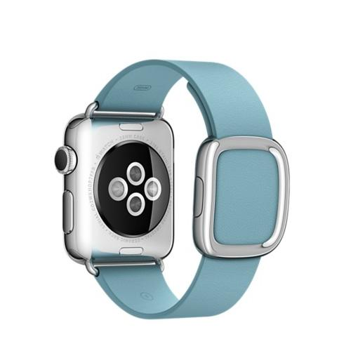 Умные часы Apple MMFC2 38mm Stainless Steel Case with Blue Jay Modern Buckle - Large Size Band