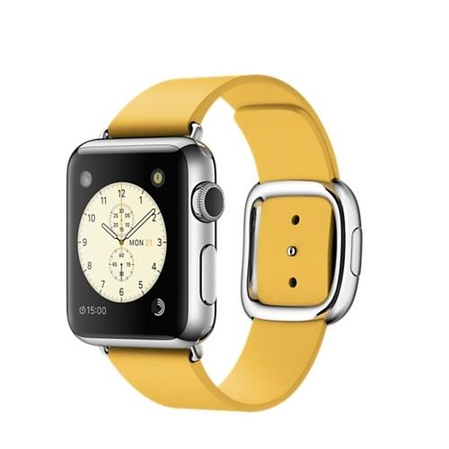 Умные часы Apple MMFD2 38mm Stainless Steel Case with Marigold Modern Buckle - Small Size Band