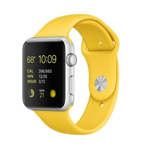 Умные часы Apple MMFE2 42mm Silver Aluminum Case with Yellow Sport Band