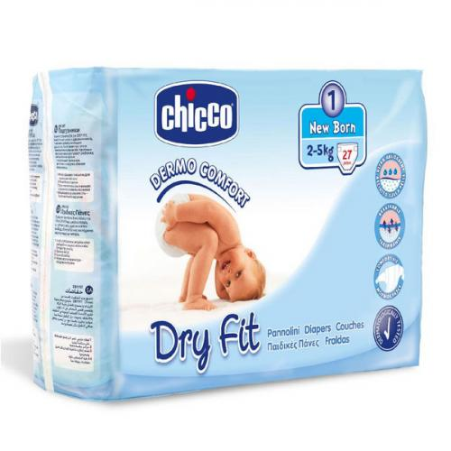 Подгузники Chicco Dry Fit New Born (2-5 кг) 27 шт