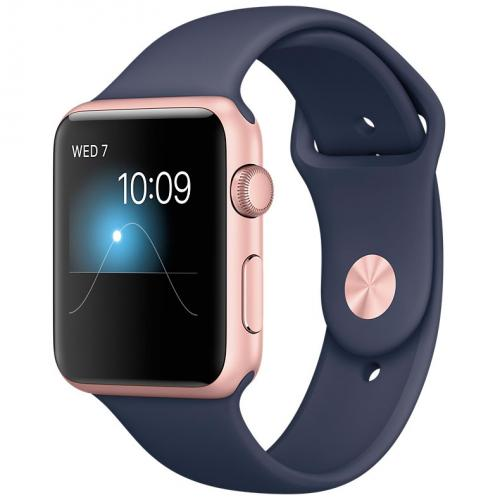 Умные часы Apple Watch MNNM2 42mm Rose Gold Aluminum Case with Midnight Blue Sport Band