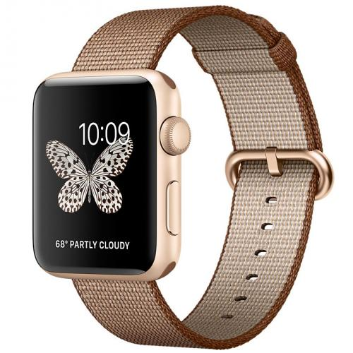 Умные часы Apple Watch MNPP2 42mm Gold Aluminum Case with Toasted Coffee/Caramel Woven Nylon