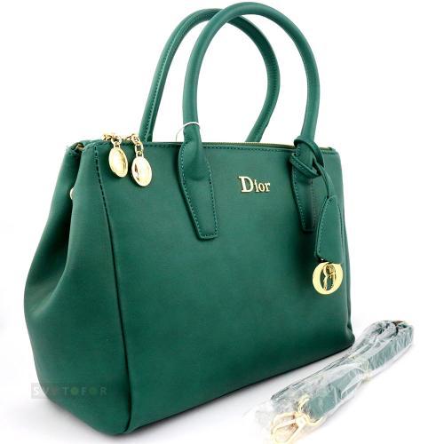 Сумка женская Dior classic из эко кожи в зеленом цвете