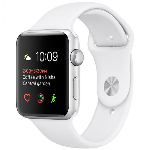 Умные часы Apple Watch series 2 MNNW2 38mm Silver Aluminium Case with White Sport Band