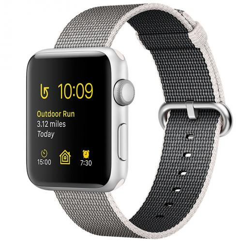 Умные часы Apple Watch series 2 MNNX2 38mm Silver Aluminum Case with Pearl Woven Nylon