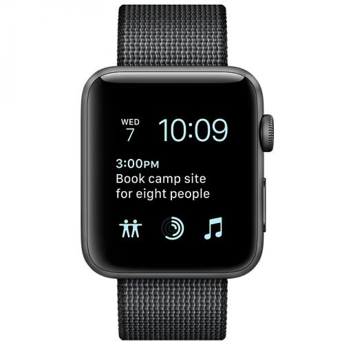 Умные часы Apple Watch series 2 MP072 42mm Space Gray Aluminum Case with Black Woven Nylon