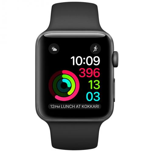 Умные часы Apple Watch series 2 MP0D2 38mm Space Gray Aluminum Case with Black Sport Band